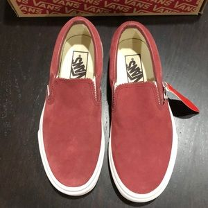 Vans Classic Slip On Pinked Suede Apple Butter NWT